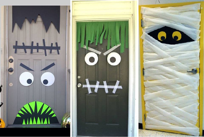 ideas para decorar puertas en halloween halloween